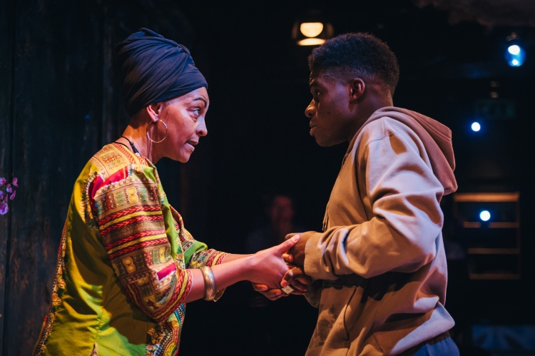 Adjoa Andoh and Kenneth Omole in Assata Taught Me_Image by ikinyum photography